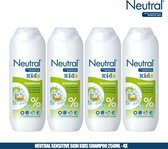 Neutral 0% Sensitive Skin Kids Shampoo 250ml - 4 Pack