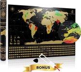 YOUR ADVENTURE World Scratch Map XL (84 x 59.4 cm) - Kras Wereldkaart Poster - Wereldkaart wanddecoratie met Gouden Laag Om Te Krassen - Wereld Kraskaart - Poster Wereldkaart Kras - Krasmap - Kras Wereldkaarten - Wereldmap - World map - Wereld Kaart