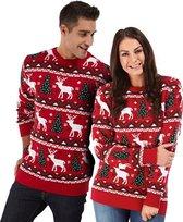 """Foute Kersttrui Dames & Heren - Christmas Sweater """"Gezellig Kerst Rood"""" - Kerst trui Mannen & Vrouwen Maat L"""