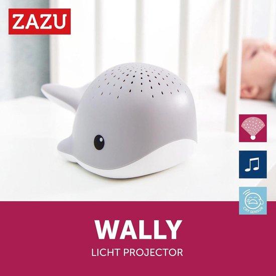 Zazu Wally de walvis lichtprojector met muziek grijs Grijs