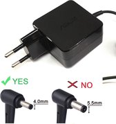 ORIGINEEL ASUS 33w 1.75a 19v adapter 4mm pin voeding oplader power