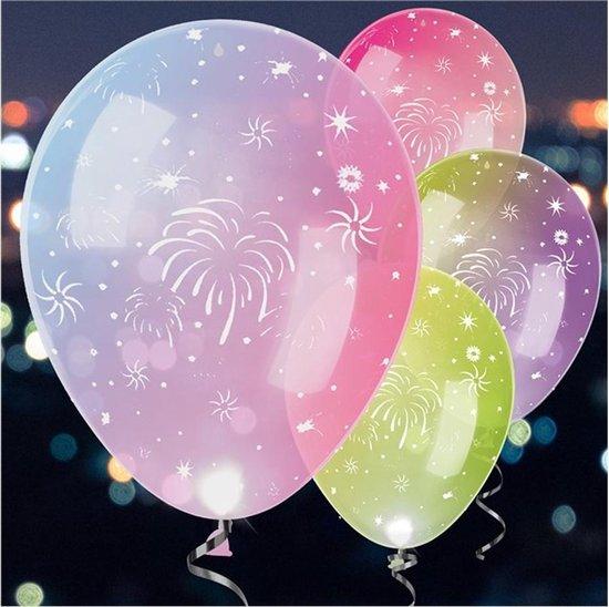 Ballonnen - LED Vuurwerk - 4 stuks