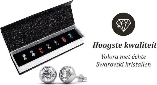 Yolora Kalpa Camaka Elements Dames oorbellen set - Rond - 7 kleuren (o.a. groen, wit, rood, blauw) cadeauset - YO-111