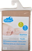 BabyBest Respira hoeslaken-matrasbeschermer 60x120 cm ecru