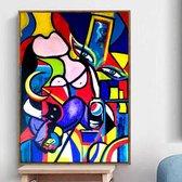 Canvas Schilderij * Pablo Picasso Abstract * - Kunst aan je Muur - Kleur - Modern - 50 x 70 cm