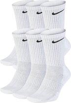 Nike Everyday Cushion Crew Sokken - Maat 38-42 - Unisex - wit/zwart