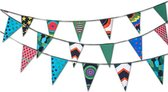 Stoer stoffen slinger verjaardag (11 meter, 22 vlaggen)
