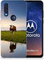 Motorola One Vision TPU Hoesje Koe