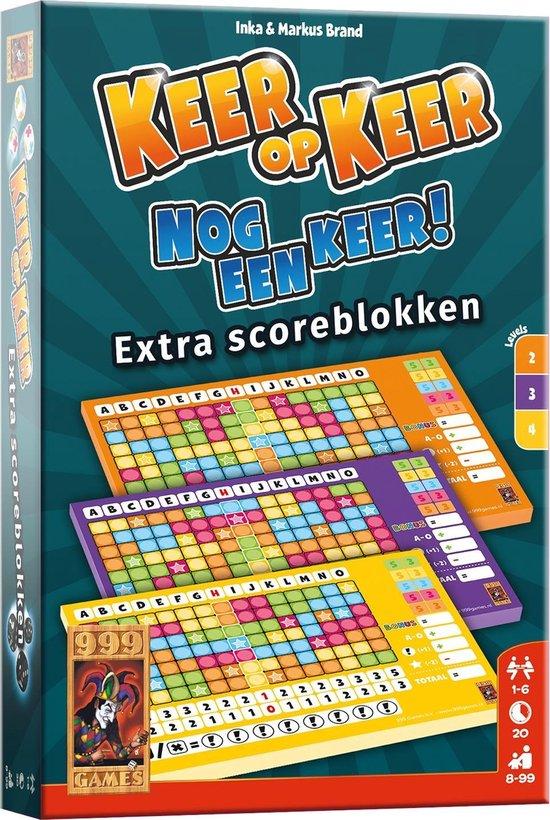 Afbeelding van Keer op Keer Scoreblok 3 stuks Level 2, 3 en 4 Dobbelspel speelgoed