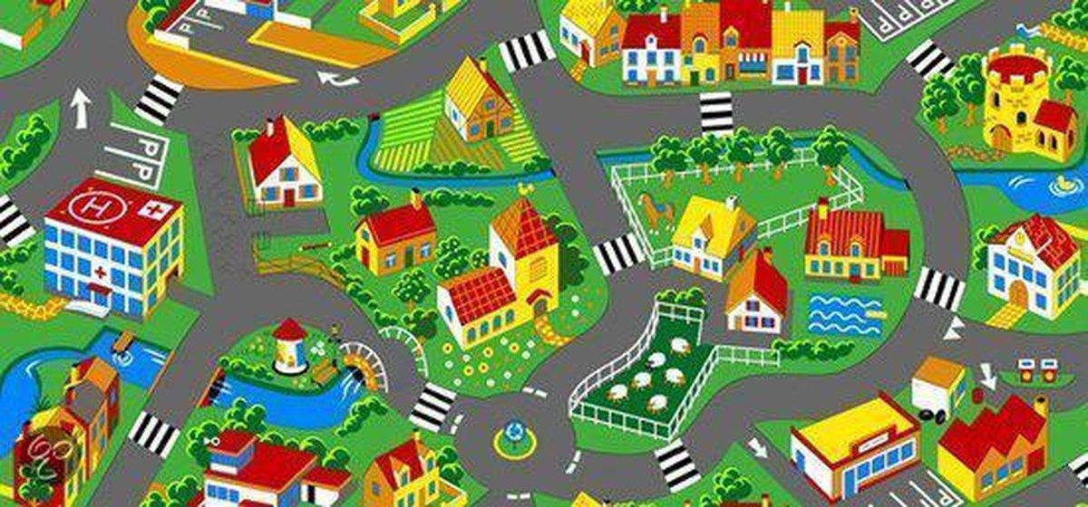 Speelkleed Village - 200x200cm - Merkloos