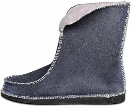 Schapenvacht pantoffels - Lamsvacht hoge pantoffels - Grijs - Maat 40