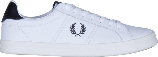 Fred Perry Vulc Leather  Sneakers - Maat 44 - Mannen - wit/zwart