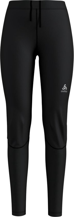 Odlo Tights Zeroweight Windproof Warm Dames Sportbroek - Black-Reflective Print - Maat L