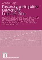 Foerderung Partizipativer Entwicklung in Der VR China