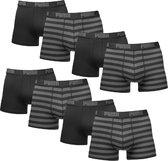 Puma Boxershorts 8-pack Stripe Black-S
