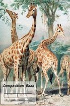 4 Giraffe Composition Book