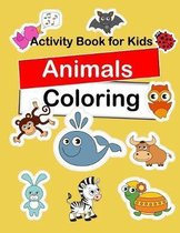 Activity Book For Kids Animals Coloring