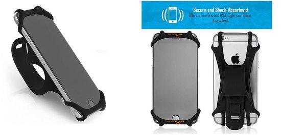 Universele Telefoonhouder Fiets - 4 tot 6.5 inch - Zwart
