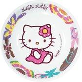 """Diep bord in melamine met Hello Kitty Bamboo™ - Feestdecoratievoorwerp - One size"""