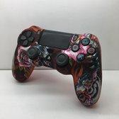 Silicone Bescherm Hoes Case met kunstpatroon voor PS4 Controller – Accessoires Set voor Playstation 4 Controller  Protector with ART Pattern