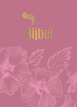Roodletterbijbel  -   Roodletterbijbel - design bloemen