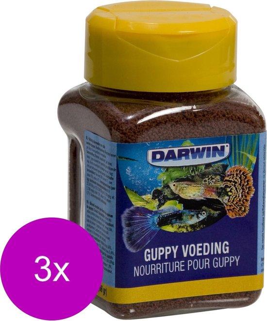 Darwin Guppy Voeding - Vissenvoer - 3 x 100 ml