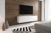 Zwevend Tv Meubel Hoogglans Wit - Led verlichting - Clean Design