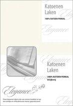 Elegance Laken Katoen Perkal - ivoor 150x250