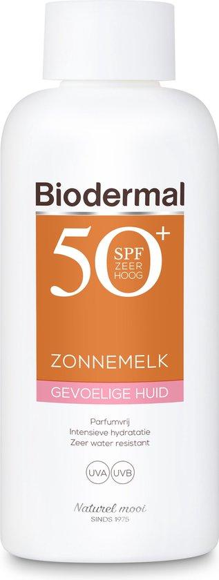 Biodermal zonnemelk gevoelige huid SPF50+ 200 ml - Zonnebrand