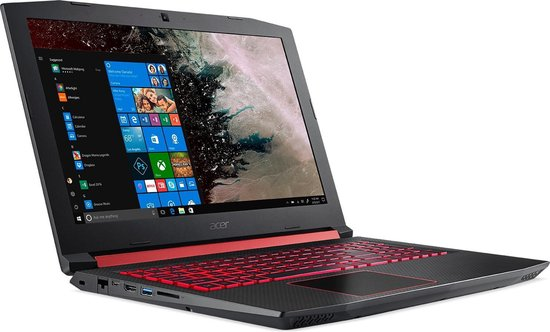 Acer Nitro 5 AN515-52-741T Zwart Notebook 39,6 cm (15.6'') 1920 x 1080 Pixels Intel® 8ste generatie Core™ i7 16 GB DDR4-SDRAM 1512 GB HDD+SSD Windows 10 Home