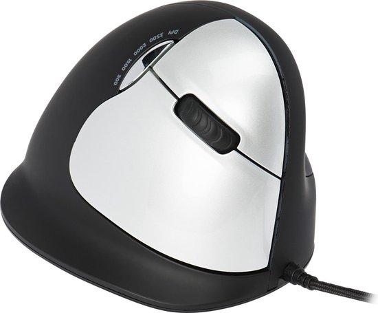 R-Go Tools R-Go HE Break Mouse, Ergonomische muis, Anti-RSI software, Groot (Handlengte boven 185mm), Rechtshandig, Bedraad