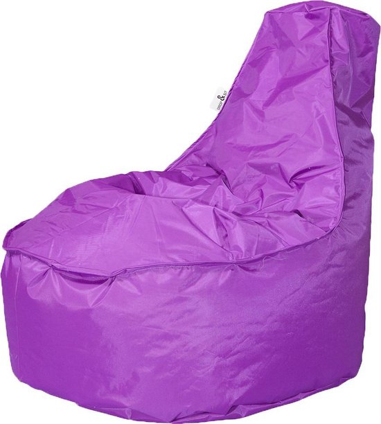 Drop & Sit zitzak Stoel Noa Junior - Paars (100 liter)