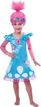Amscan Trolls-verkleedpak Meisjes Blauw/roze 7-8 Jaar