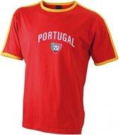 Rood voetbalshirt Portugal heren 2XL