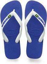Havaianas Brasil Logo Unisex Slippers - Marine Blue - Maat 31/32