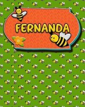 Handwriting Practice 120 Page Honey Bee Book Fernanda