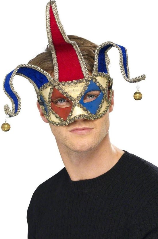 """""""Joker masker voor volwassenen  - Verkleedmasker - One size"""""""