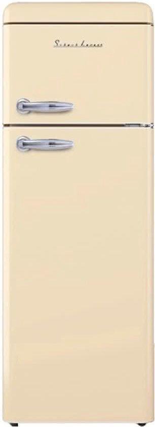 Koelkast: Schaub Lorenz  SL210 C - Compacte Retro Koel-vriescombinatie - Cream, van het merk Schaub Lorenz