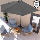 Balkon parasol - Half rond model - Antraciet