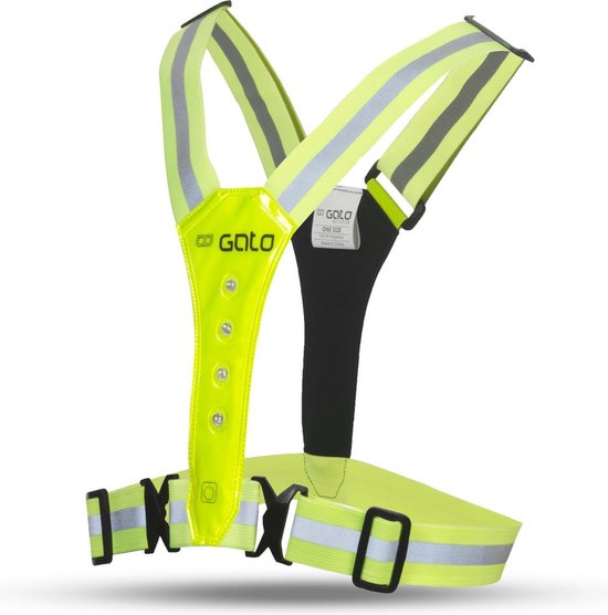 Gato Sports Led Safer Sport vest - hardloop verlichting - Neon Yellow