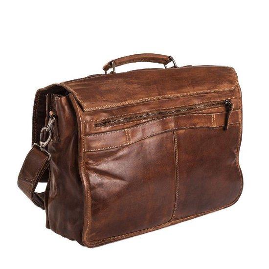 Tassen   Chesterfield Werktas Aberdeen A4 met Laptopvak 15.6'' Cognac