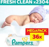 Pampers Fresh Clean Billendoekjes - 2304 Stuks
