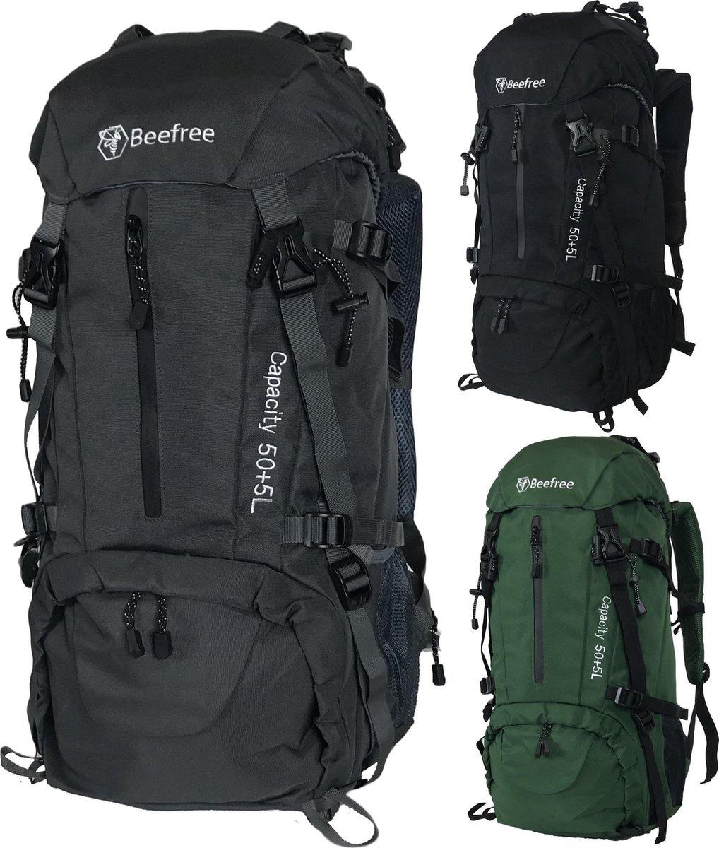 Beefree  Backpack - Rugzak - 55 Liter - Inclusief regenhoes - Grijs