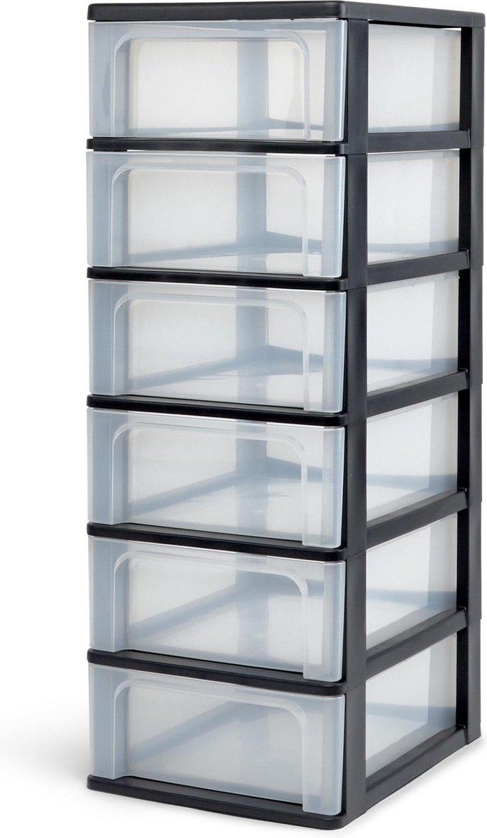 IRIS A4 Ladesysteem - 6 x 7L - Kunststof - Zwart/Transparant