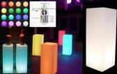 LED presentatie zuil pilaar sfeerlamp verlichting RGB wit 16 kleuren 72 cm hoog oplaadbaar afstandbediening