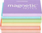Magnetische notities - diverse pastelkleuren - 6 stuks - maat S