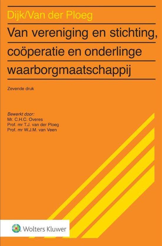 Boek cover Van vereniging & stichting, coöperatie en onderlinge waarborgmaatschappij van  (Paperback)