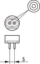 Philips MASTER TL5 HE 21W 21W G5 A+ Koel wit fluorescente lamp