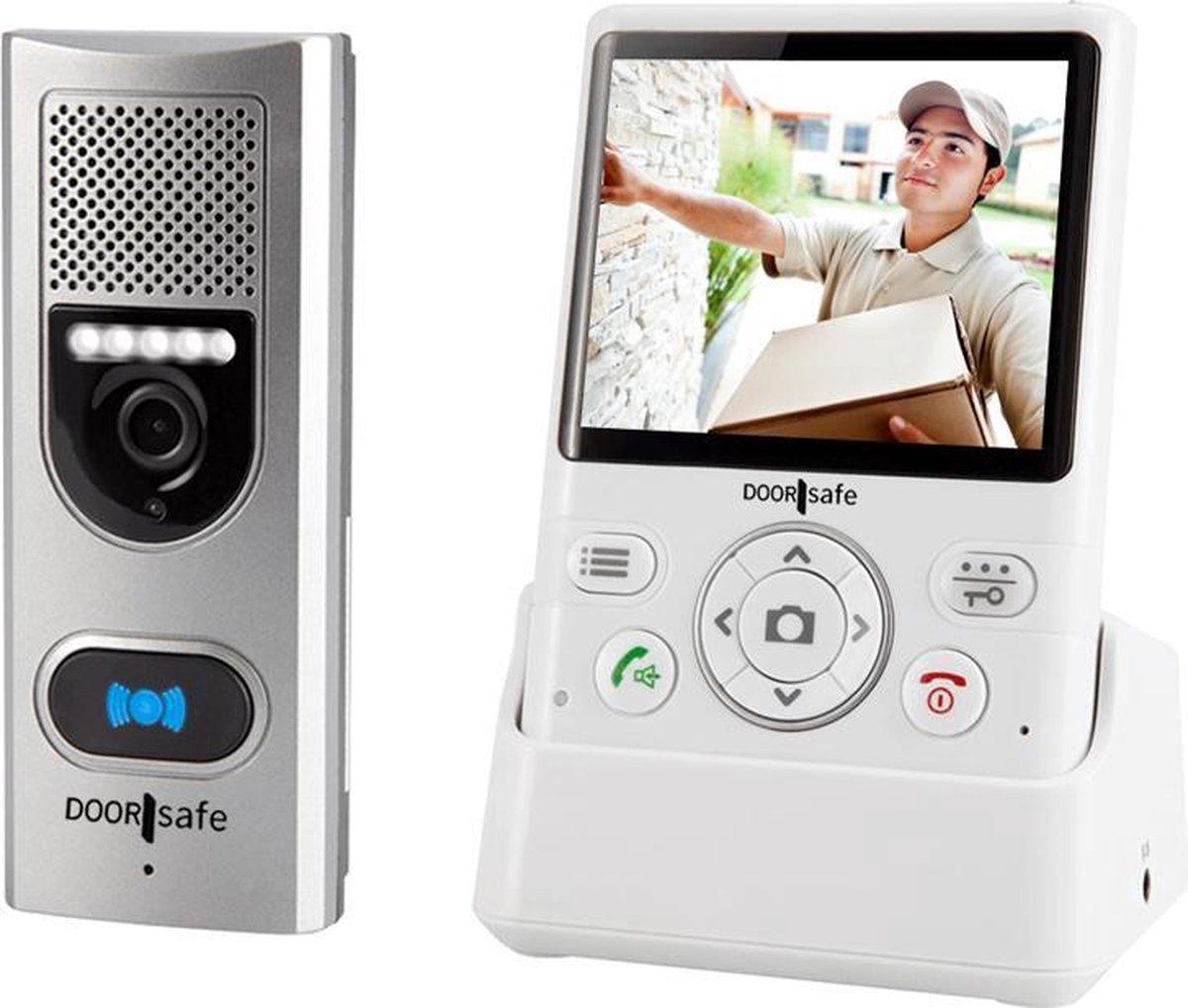 Draadloze Camera Deurbel - 3.5'' kleurenscherm - Doorsafe 4110 - Doorsafe