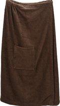 A&R Sauna Kilt Dames met Klittenband Chocolate Brown